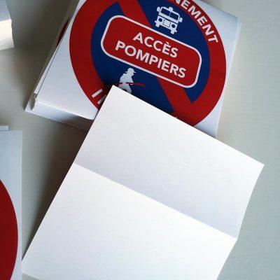 Stickers de stationnement interdit – Accès pompiers