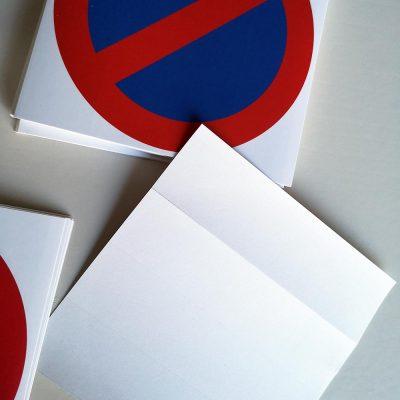 Autocollants stationnement abusif ou interdit. Stationnement interdit.